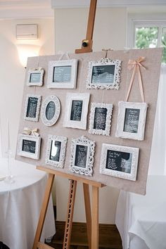 picture frame seating chart display