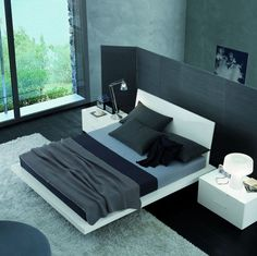 Modern Bedroom (black grey white)