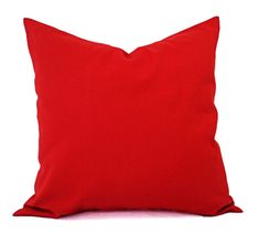 Solid Red Pillow Covers - Red Couch Pillow Covers - Two Throw Pillow Covers - Bright Red Pillow Cover - Decorative Pillow - Christmas Pillow