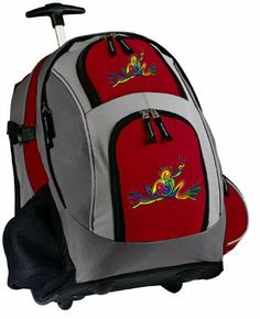 Peace Frog Rolling Backpack Deluxe Red Super Cool - Best Backpacks Bags with Wheels or School Trolley Bags Suitcase Carry-Ons - Unique Gifts! Broad Bay. $63.99