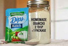 After trying many copycat Homemade Hidden Valley Ranch Mix recipes I figured out how to make it taste exactly like the real thing. No MSG and all natural.