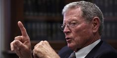 Jim Inhofe Says The Pope Shouldn't Talk About Climate Change.   Why don't you Republicans take your our advice and concern yourselves with your political job and stop legislating vaginas and birth control, which isn't your business. HYPOCRITES.