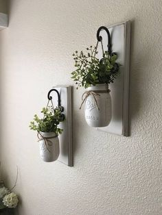 Set of Two Mason Jar Sconces with Greeney Farmhouse Decor Rustic Decor Hanging M. , Set of Two Mason Jar Sconces with Greeney Farmhouse Decor Rustic Decor Hanging Mason Jar Sconce Mason Jar Decor Hanging PlantersWall D Set of Two Maso. Mason Jar Sconce, Hanging Mason Jars, Rustic Mason Jars, Hanging Planters, Jar Lamp, Rustic Wall Sconces, Rustic Walls, Rustic Wood, Farmhouse Wall Sconces