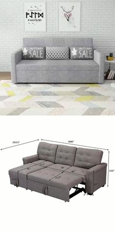 Sofa Bed Design, Living Room Sofa Design, Bedroom Bed Design, Bedroom Furniture Design, Home Decor Furniture, Sofa Furniture, Sofa Bed For Small Spaces, Furniture For Small Spaces, Sectional Sleeper Sofa