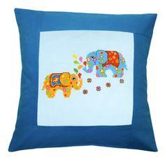Duftin, Kissen Farbenfrohe Elefanten, 357935 Throw Pillows, Baby, Hardanger, Elephants, Pillows, Animales, Toss Pillows, Cushions, Decorative Pillows