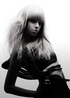Hair by Melvin Royce of Mieka Hairdressing for Goldwell. #hair #blackandwhite #goldwell