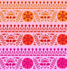 India inspired patterned stencils