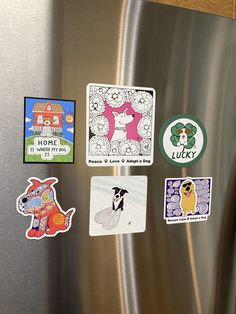 Here is you chance to get a variety of Binky and Bell's best selling dog art magnets all in one neat bundle! You get the following magnets: *Cleo* *Red Zentangle Dog* *Jackson Valentine* *Home Is Where My Dog Is* *Lucky* *Golden Dog* A $22 value if sold individually! But only $16 including shipping! Designed by Binky and Bell. Great for putting on your refrigerator, file cabinet, or metal shelving. Perfect little gift for any and all dog lovers! Made in USA. Free shipping within U.S.