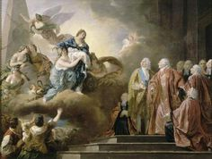 Allegorical painting of the birth of Louis Joseph, Dauphin of France, 22 October 1781 by François Guillaume Menageot.jpg