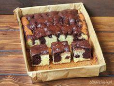 Obżarciuch: Dwukolorowe ciasto z jabłkami Homemade Cakes, Tiramisu, Waffles, Cooking Recipes, Sweets, Cookies, Dishes, Breakfast, Ethnic Recipes