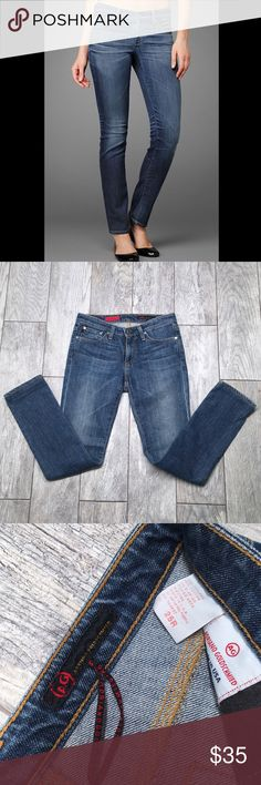 AG Premiere Skinny Jeans 29 EUC AG premiere skinny jeans. Skinny/straight fit. Medium wash. No holes or damage. Light stretch. Waist 14.5in Rise 12in Inseam 27in. Seems to run a little small AG Adriano Goldschmied Jeans Skinny