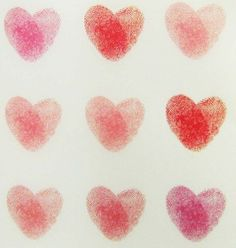 Good picture of Thumbprint Heart art. Fun for kids to do for Valentines Valentine Crafts, Be My Valentine, Holiday Crafts, Heart Day, Love Heart, Art For Kids, Crafts For Kids, Fingerprint Heart, Thumb Prints