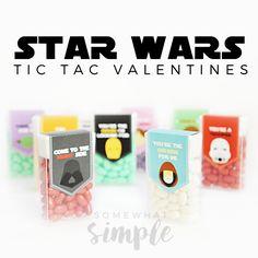 Star Wars Valentine Tic Tac Labels - Somewhat Simple
