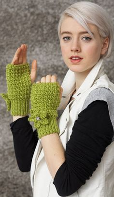 Mossy-Mitts: free pattern