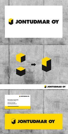 Logosuunnittelu Ilkka Janatuinen - Jontudmar Oy http://www.ilkkaj.com/Jontudmar-Oy #logosuunnittelu #yritysilme #logo #design