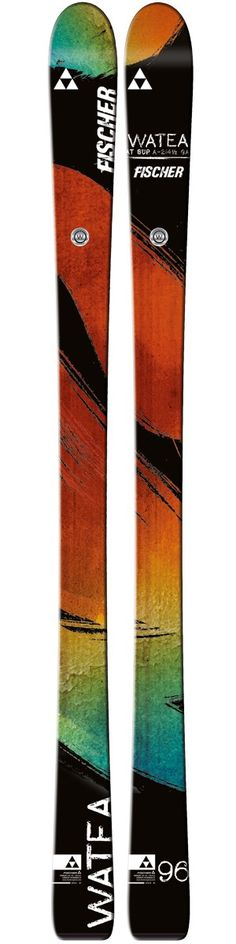 Fischer Watea 96 - Born to ride free: accurate cruising through Freeski Rocker, exact power rides in precisely those situations in which millimetres count. Ski Racing, Ski Gear, Buyers Guide, Bag Accessories, Skiing, Count, Free, Ski