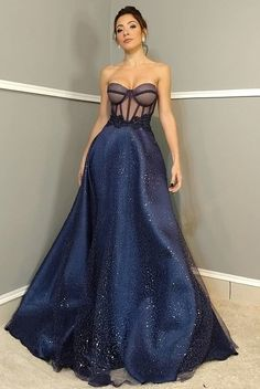 Navy Prom Dresses, Strapless Prom Dresses, Gala Dresses, Evening Dresses, Formal Dresses, Bridesmade Dresses, Gowns Of Elegance, Stunning Dresses, Beautiful Outfits
