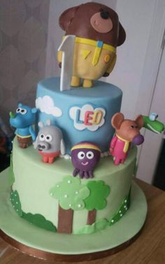 Hey Duggee cake Thomas Birthday Cakes, Boys First Birthday Cake, Special Birthday Cakes, Picnic Birthday, Second Birthday Ideas, First Birthday Cakes, 4th Birthday, Bithday Cake, Gin