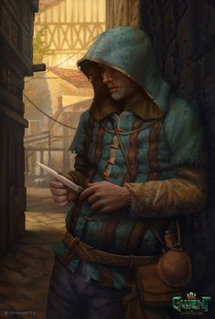 "Illustration for Gwent: The Witcher Card Game ""Ahhh, nothin' so soothin' as the sound o' garglin' blood. Fantasy Rpg, Medieval Fantasy, Fantasy Artwork, Dark Fantasy, Character Portraits, Character Art, Character Concept, Concept Art, Dungeons And Dragons Characters"