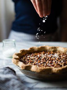 Bourbon Sorghum Pecan Pie {with a gluten-free sorghum crust}