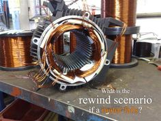 What is the rewind scenario if a motor fails?