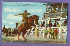 Ride ´EM Cowboy Postcard Pre 1950