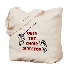 Obey the Choir Director Tote Bag on CafePress.com