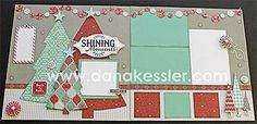 Two Page Christmas Layout using CTMH Sparkle and Shine WOTG and Cricut Art Philosopy by Dana Kessler Christmas Scrapbook Layouts, Scrapbook Paper Crafts, Scrapbook Cards, Scrapbooking Ideas, Paper Crafting, Scrapbook Sketches, Scrapbook Page Layouts, Stampin Up, Scrapbook Generation
