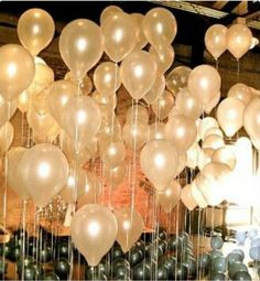 An easy way to bring festive flair is to hang lots of metallic balloons from the ceiling - it brings the garden-party feel of traditional Gatsby parties indoors. Description from bostondesignguide.com. I searched for this on bing.com/images