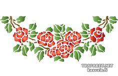 Rosgirland 41 • Återanvändbara schablon till dekor där Rosgirland 41 • handla online på Internet