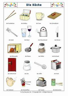 Vokabel-Bilder: die Küche (The Kitchen)