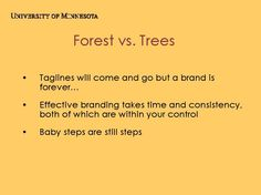 Forest vs. Trees