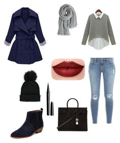 """""""Bez naslova"""" by velida-husic ❤ liked on Polyvore featuring Frame Denim, Atwell, Forever 21, Calypso St. Barth, Yves Saint Laurent and Marc Jacobs"""