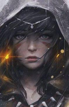 Fantasy, Girl, Warrior, HD Mobile and Desktop wallpaper resolutions. Dark Fantasy Art, Fantasy Art Women, Fantasy Girl, Anime Girl Drawings, Anime Art Girl, Fantasy Character Design, Character Art, Tiamat Dragon, Art Cyberpunk