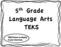 5th grade reading street unit 1 week 1 red kayak vocabulary 5th grade language arts teks we can posters fandeluxe Images