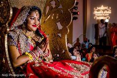 Beautiful indian bride at wedding ceremony