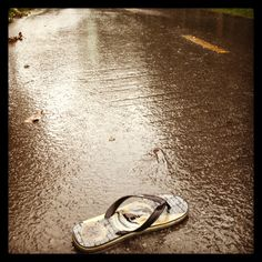 On the way to work - along a wet road - where do all these 'flip-flops' end up?