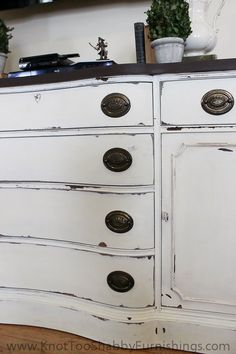 Modern vintage furniture refinishing, Annie Sloan Chalk paint, Miss Mustard Seed's Milk Paint, shabby chic furniture, painted furniture
