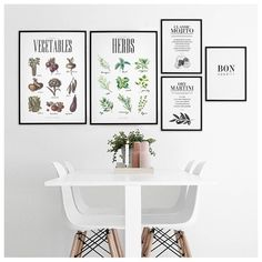 """Kitchen inspiration with our freshly new in posters """"Vegetables"""" and """"Herbs""""See more of our posters at desenio.se (link in bio) and find your favorite one for your home. #desenio #posters #prints #affischer #tavlor #julisteet #printit #plakater"""