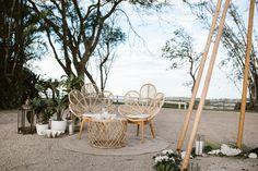 Photo by Carly Tia Photography Wedding Lounge, Garden Party Wedding, Wedding Seating, Boho Wedding, Exotic Wedding, Wedding Greenery, Wedding Scene, Forest Wedding, Wedding Flowers