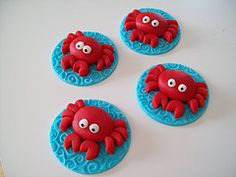 Cute Crabbies (robin33smith) Tags: red party crab cupcake crabs crabby toppers fondant