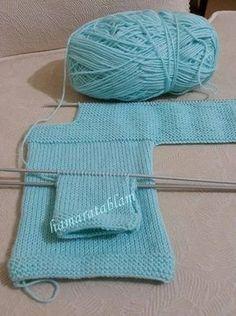 KOLAY BEBEK CEKETİ Malzemeler: 1 Yumak Nako baby lüks minnoş bebe yünü 3,5 numara şiş Hazırlanışı: ÖN: Şişimize 40 ... Baby Cardigan Knitting Pattern, Baby Blanket Crochet, Baby Knitting Patterns, Knitting Designs, Crochet Baby, Knitting For Kids, Free Knitting, Quick Knits, Baby Sweaters