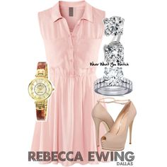Inspired by Rebecca Sutter Ewing from the new Dallas, played by Julie Gonzalo.