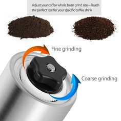 Amazon.com: Dazone ® Manual Coffee Grinder,Coffee Beans and Spices Mill with Ceramic Burr - Hand Coffee Burr Hand Coffee Mill with Precision Conical Burr, Adjustable, Portable, Stainless Steel: Kitchen & Dining