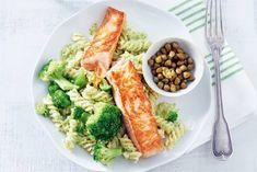 Gebakken vis, pasta en groenten vallen bij iedereen in de smaak - Recept - Allerhande