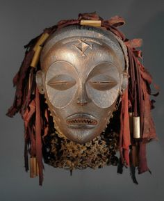 Gallery of rare African Masks - African Masques Chokwe Mask