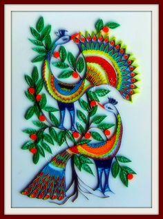 Creative quilling - Fancy Peacocks by Anastasia Annie Wahalatantiri, via Flickr