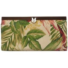 Patricia Nash Women's Cuban Tropical Cauchy Leather Wallet (25.645 HUF) ❤ liked on Polyvore featuring bags, wallets, cuban tropical, genuine leather bag, patricia nash, 12 card wallet, green wallet and antique leather wallet