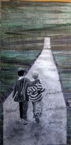 The Long Road by Kathleen Burford Merit.  2012 Challenge, Aotearoa Quilters (New Zealand)