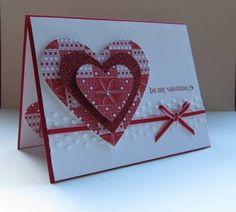 "CAS156 ""hearts"" Valentine by nancy littrell - Cards and Paper Crafts at Splitcoaststampers"